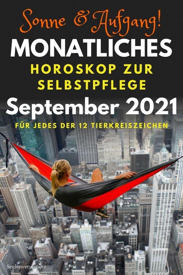 September 2021 Monats Horoskop zur Selbstpflege